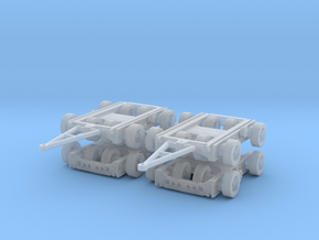 Culemeyer Trailer 2 axis (x4) 1/200 in Smooth Fine Detail Plastic