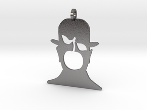 Magritte pendant in Polished Nickel Steel
