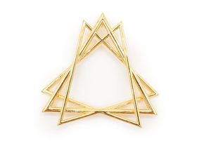 Sacred Creation Pendant in 18k Gold Plated Brass: Large
