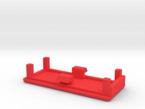 ArduinoMicroGehaeuseDeckel in Red Processed Versatile Plastic