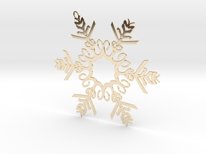 Colin metal snowflake ornament in 14K Yellow Gold