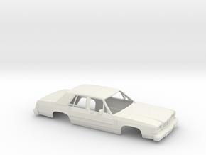 1/25 1986 Mercury Grand Marquis Shell in White Natural Versatile Plastic