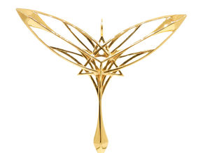 Guardian of Gaia Pendant in 18k Gold Plated Brass