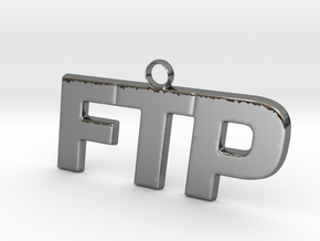 FTP Logo Pendant Fck The Population in Fine Detail Polished Silver