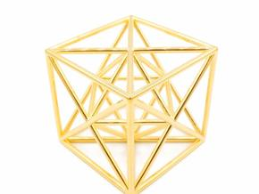Metatron Cube - Meditation Tool in 18k Gold Plated Brass