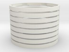Ring-Beadlock-2.2-full-X8 in White Natural Versatile Plastic
