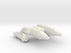 3125 Scale Lyran Black Cheetah Heavy Frigate CVN in White Natural Versatile Plastic