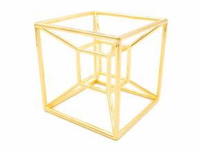 Tesseract - Meditation Tool in 18k Gold Plated Brass