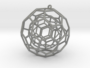 fullerene ball in a ball bauble ornament in Gray PA12