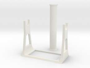 Standalone 2KG 3D Printer Filament Spool Holder in White Natural Versatile Plastic