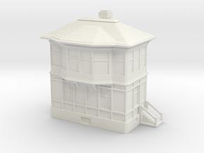 Railway Signal Tower 1/144 in White Natural Versatile Plastic
