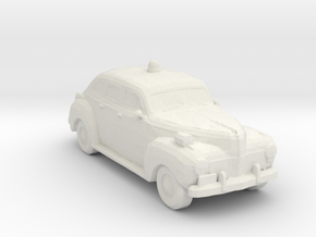 1941 Police Car 1:160 Scale in White Natural Versatile Plastic
