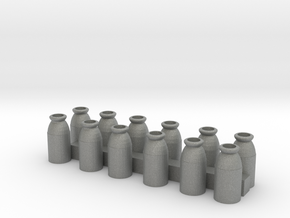 O Scale Milk Cans in Gray PA12