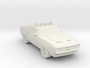1970 Police Car 1:160 Scale in White Natural Versatile Plastic