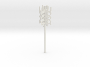 mondoshawan key - 146 mm in White Natural Versatile Plastic