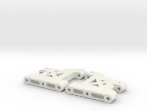 MO27-4|TL-01|(34,5mm) Front suspension arms in White Natural Versatile Plastic
