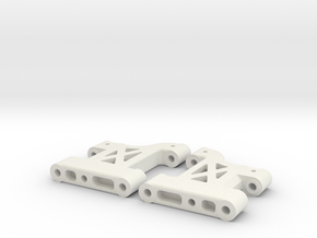 MO27-1|TL-01|Stock length front suspension arms in White Natural Versatile Plastic