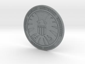 Shield badge  in Polished Metallic Plastic