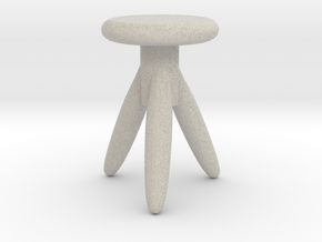 Miniature 1:12 Chair in Natural Sandstone: 1:12