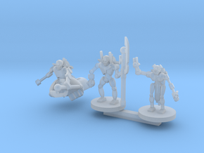 Deathbot Command Squad in Smooth Fine Detail Plastic