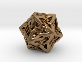 Celtic D20 in Raw Brass