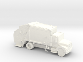HO Scale Trash Truck in White Processed Versatile Plastic