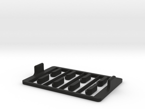 Multi-slide Holder Tray for Microscopy with clamps in Black Natural Versatile Plastic
