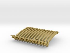 (12) GREEN MODERN FLASHER BARS in Natural Brass