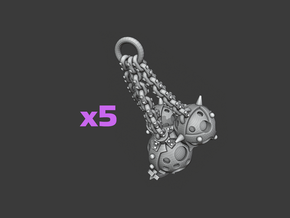 Balls and Chains Flail Sets: Cornivius in Smooth Fine Detail Plastic: Medium