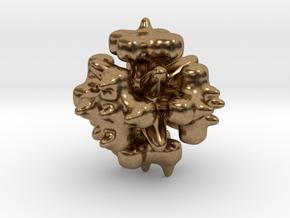 Hand Massager (varied side) in Natural Brass