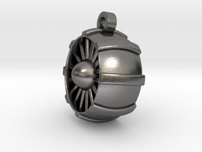 JetEngine Pendant in Polished Nickel Steel: Small