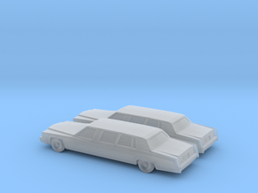 1/160 2X 1979 Cadillac Fleetwood Custom Limousine in Smooth Fine Detail Plastic
