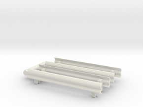 Guard Rail (x4) 1/100 in White Natural Versatile Plastic