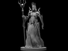 Lich - Female in Smooth Fine Detail Plastic