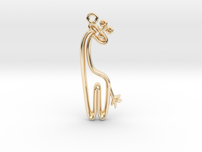 Tiny Giraffe Charm in 14k Gold Plated Brass