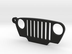 "Jeep Wrangler TJ (1997-2006) REPLICA - dim. 2"" in Black Natural Versatile Plastic"