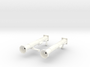 FA30006 AT-4 M136 Launchers 1/10 scale in White Strong & Flexible Polished