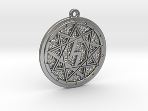 Nine ultimate star amulet in Natural Silver: Medium
