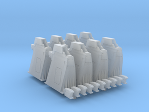 1/96 - Holddown Arms LC-34 (8x closed) 1/96 scale in Smooth Fine Detail Plastic