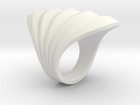 Waves Ring M in White Natural Versatile Plastic: 5 / 49