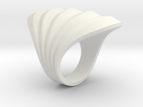 Waves Ring M in White Natural Versatile Plastic: 5 / 49