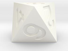 Standard d8 in White Processed Versatile Plastic