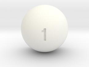 Weighted d1 in White Processed Versatile Plastic