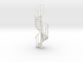 s-16-spiral-stairs-17-step-rh-2a in White Natural Versatile Plastic
