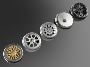 1/64 scale Hill Climber Wheels Multi Pack in Smoothest Fine Detail Plastic