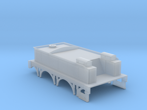 GWR Broad Gauge Tender 3000 gallon 4mm scale in Smooth Fine Detail Plastic
