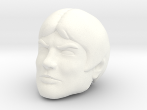 Mallek Head in White Processed Versatile Plastic