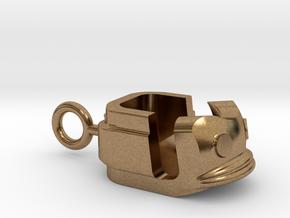 """Schlüsselanhänger """"Polypgondel"""" - groß in Raw Brass"""