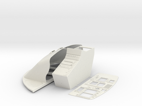 B3-Dash in White Natural Versatile Plastic