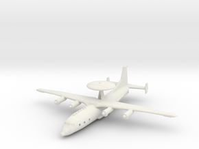 1/200 Shaanxi KJ-500 Early Warning Aircraft in White Natural Versatile Plastic